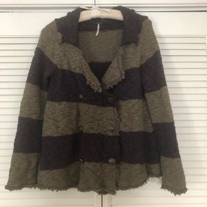 Free People sweater dbl Breast size small